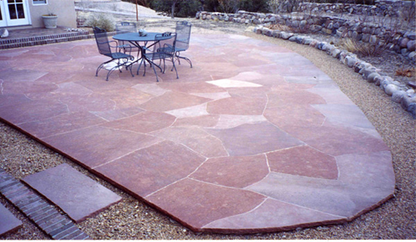 A custom stone patio